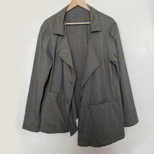 Oska Asymmetric Lagenlook Shirt Jacket Size 12 14